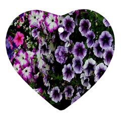 Flowers Blossom Bloom Plant Nature Ornament (Heart)