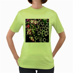 Flowers Blossom Bloom Plant Nature Women s Green T-Shirt