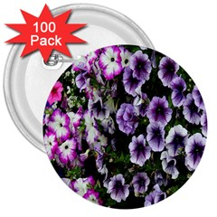 Flowers Blossom Bloom Plant Nature 3  Buttons (100 pack)