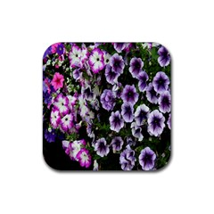 Flowers Blossom Bloom Plant Nature Rubber Square Coaster (4 pack)
