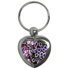 Flowers Blossom Bloom Plant Nature Key Chains (Heart)