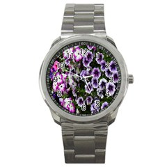 Flowers Blossom Bloom Plant Nature Sport Metal Watch