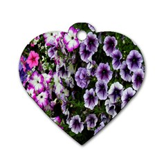 Flowers Blossom Bloom Plant Nature Dog Tag Heart (One Side)
