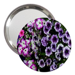 Flowers Blossom Bloom Plant Nature 3  Handbag Mirrors