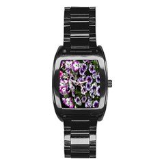 Flowers Blossom Bloom Plant Nature Stainless Steel Barrel Watch