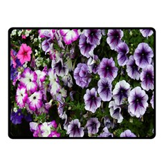 Flowers Blossom Bloom Plant Nature Double Sided Fleece Blanket (Small)