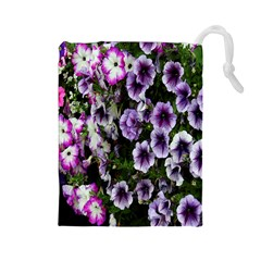 Flowers Blossom Bloom Plant Nature Drawstring Pouches (Large)