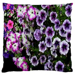 Flowers Blossom Bloom Plant Nature Large Flano Cushion Case (One Side)