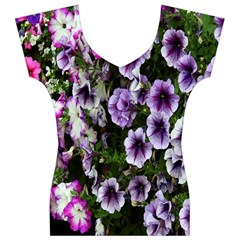 Flowers Blossom Bloom Plant Nature Women s V-Neck Cap Sleeve Top