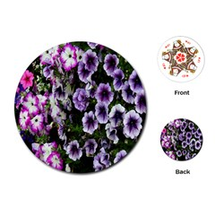 Flowers Blossom Bloom Plant Nature Playing Cards (Round)