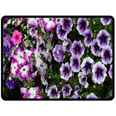 Flowers Blossom Bloom Plant Nature Double Sided Fleece Blanket (Large)