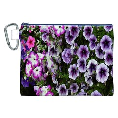 Flowers Blossom Bloom Plant Nature Canvas Cosmetic Bag (XXL)