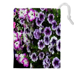 Flowers Blossom Bloom Plant Nature Drawstring Pouches (XXL)