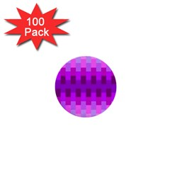 Geometric Cubes Pink Purple Blue 1  Mini Buttons (100 pack)