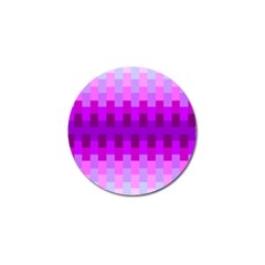 Geometric Cubes Pink Purple Blue Golf Ball Marker