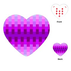Geometric Cubes Pink Purple Blue Playing Cards (Heart)
