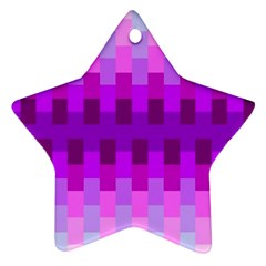 Geometric Cubes Pink Purple Blue Star Ornament (Two Sides)