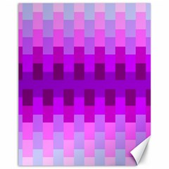 Geometric Cubes Pink Purple Blue Canvas 11  x 14