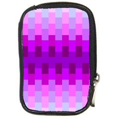 Geometric Cubes Pink Purple Blue Compact Camera Cases