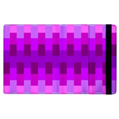 Geometric Cubes Pink Purple Blue Apple iPad 3/4 Flip Case