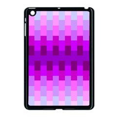 Geometric Cubes Pink Purple Blue Apple iPad Mini Case (Black)