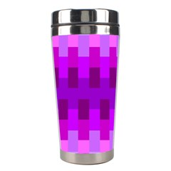 Geometric Cubes Pink Purple Blue Stainless Steel Travel Tumblers