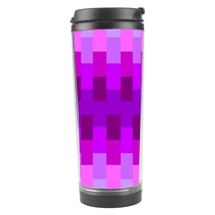 Geometric Cubes Pink Purple Blue Travel Tumbler
