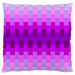 Geometric Cubes Pink Purple Blue Large Flano Cushion Case (Two Sides)