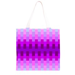 Geometric Cubes Pink Purple Blue Grocery Light Tote Bag