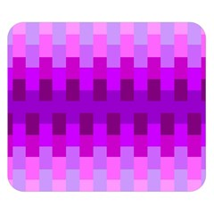 Geometric Cubes Pink Purple Blue Double Sided Flano Blanket (Small)