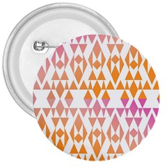 Geometric Abstract Orange Purple Pattern 3  Buttons