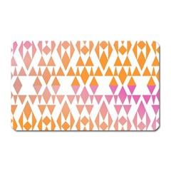 Geometric Abstract Orange Purple Pattern Magnet (Rectangular)