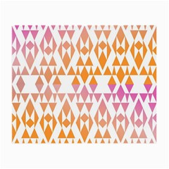 Geometric Abstract Orange Purple Pattern Small Glasses Cloth