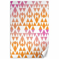 Geometric Abstract Orange Purple Pattern Canvas 24  x 36