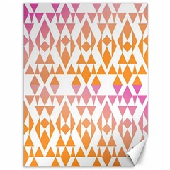 Geometric Abstract Orange Purple Pattern Canvas 36  x 48