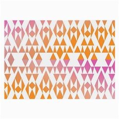 Geometric Abstract Orange Purple Pattern Large Glasses Cloth