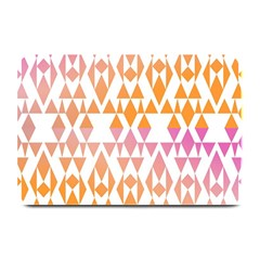 Geometric Abstract Orange Purple Pattern Plate Mats