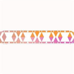 Geometric Abstract Orange Purple Pattern Small Bar Mats