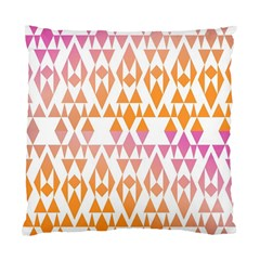 Geometric Abstract Orange Purple Pattern Standard Cushion Case (Two Sides)
