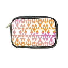 Geometric Abstract Orange Purple Pattern Coin Purse