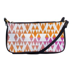 Geometric Abstract Orange Purple Pattern Shoulder Clutch Bags