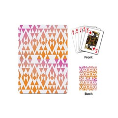 Geometric Abstract Orange Purple Pattern Playing Cards (Mini)