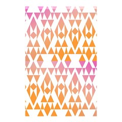 Geometric Abstract Orange Purple Pattern Shower Curtain 48  x 72  (Small)
