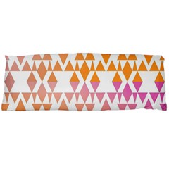 Geometric Abstract Orange Purple Pattern Body Pillow Case (Dakimakura)