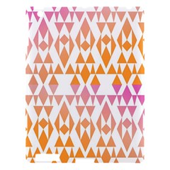 Geometric Abstract Orange Purple Pattern Apple iPad 3/4 Hardshell Case