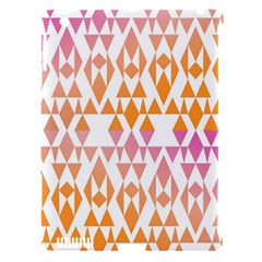 Geometric Abstract Orange Purple Pattern Apple iPad 3/4 Hardshell Case (Compatible with Smart Cover)