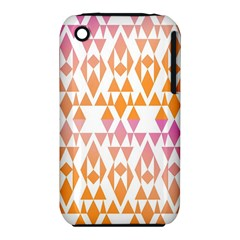 Geometric Abstract Orange Purple Pattern iPhone 3S/3GS