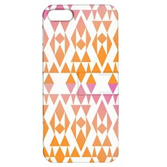 Geometric Abstract Orange Purple Pattern Apple iPhone 5 Hardshell Case with Stand