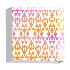 Geometric Abstract Orange Purple Pattern 5  x 5  Acrylic Photo Blocks