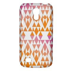 Geometric Abstract Orange Purple Pattern Galaxy S4 Mini